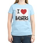 I heart badgers Women's Light T-Shirt
