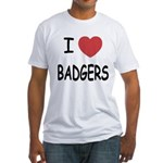 I heart badgers Fitted T-Shirt