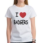 I heart badgers Women's T-Shirt