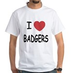 I heart badgers White T-Shirt