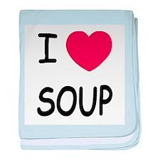 I heart soup baby blanket