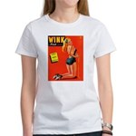 Wink Vintage Blonde in Black Cover Women's T-Shirt