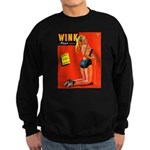 Wink Vintage Blonde in Black Cover Sweatshirt (dar