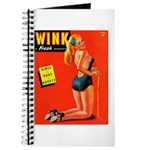 Wink Vintage Blonde in Black Cover Journal