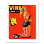 Wink Vintage Blonde in Black Cover Small Poster