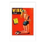 Wink Vintage Blonde in Black Cover Postcards (Pack