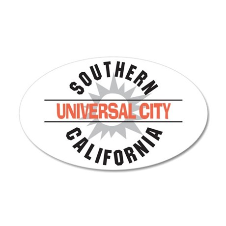 Universal City California 22x14 Oval Wall Peel