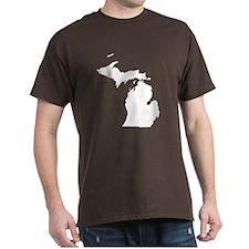 Michigan Map T-Shirt