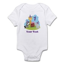 Personalized 1st Birthday Zoo Animals Infant Bodys