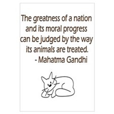 Gandhi Quote with Cat