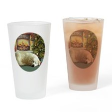Great Pyrenees Christmas Drinking Glass