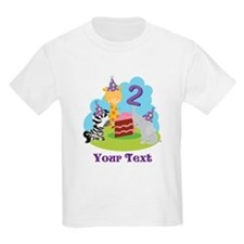 Personalized 2nd Birthday Animals T-Shirt
