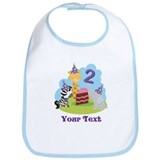 Personalized 2nd Birthday Animals Bib