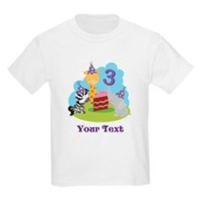 Personalized 3rd Birthday Animals T-Shirt