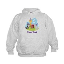 Personalized 5th Birthday Animals Hoodie
