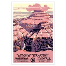 1930s Vintage Grand Canyon National Park Large Pos