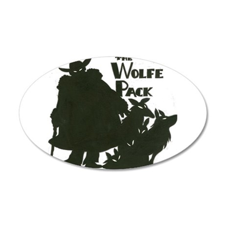 Nero Wolfe 22x14 Oval Wall Peel