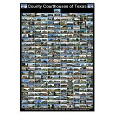 Texas County Courthouses Large Vertical