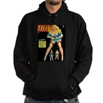 Flirt Blonde Beauty Girl Cover Hoodie (dark)