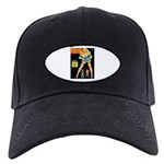 Flirt Blonde Beauty Girl Cover Black Cap