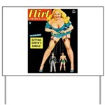 Flirt Blonde Beauty Girl Cover Yard Sign