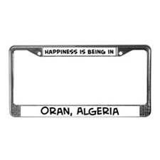 Happiness is Oran License Plate Frame