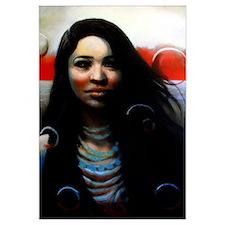 Aliza with Bubbles - 11x17 Print