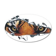 Tiger Eyes 38.5 x 24.5 Oval Wall Peel