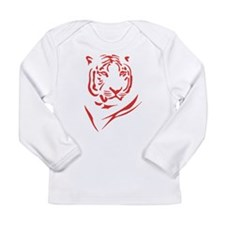 Red Tiger Long Sleeve Infant T-Shirt