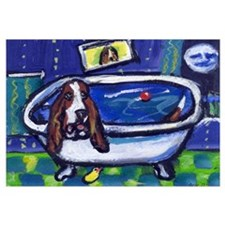 BASSET HOUND takes Bath Desig