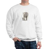 Mother and baby elephant Sweater
