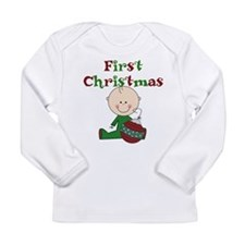 Boy With Ornament 1st Christmas Long Sleeve Infant