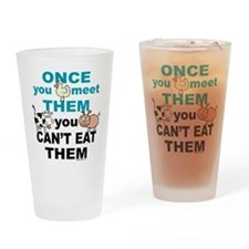 Animal Compassion Drinking Glass