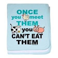 Animal Compassion baby blanket