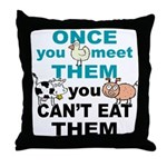 Animal Compassion Throw Pillow