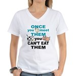 Animal Compassion Women's V-Neck T-Shirt