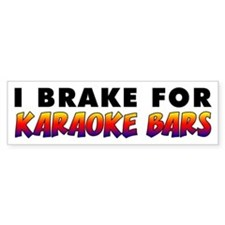 Karaoke Bars Bumper Sticker