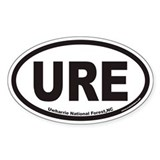 Uwharrie National Forest URE Euro Oval Decal