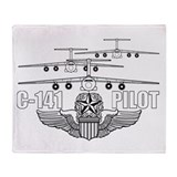 C-141 Pilot Throw Blanket