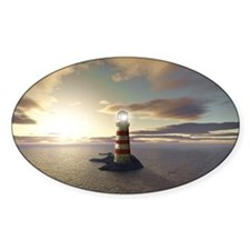 Lighthouse at Sunrise Decal