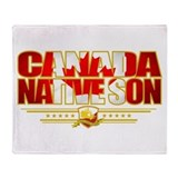Canada Native Son Throw Blanket