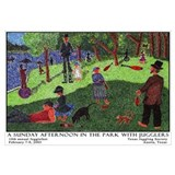 Sun Afternoon in Park w/ Jugglers Print