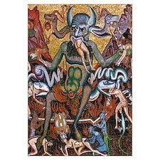 Medieval Satan Mosaic 16x20