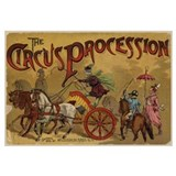 The Circus Procession 1888 Print