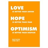 Jack Layton - Love, Hope, Optimism - 11x17