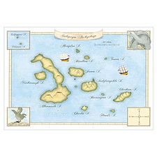 Galapagos Archipelago Map