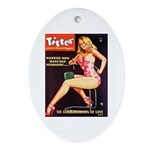 Titter Hot Beauty Queen Girl Ornament (Oval)