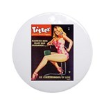 Titter Hot Beauty Queen Girl Ornament (Round)