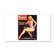 Titter Hot Beauty Queen Girl Car Magnet 20 x 12