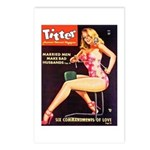 Titter Hot Beauty Queen Girl Postcards (Package of